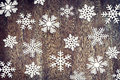 Christmas background with various paper snowflakes Royalty Free Stock Photo