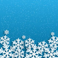 Christmas background white snowflakes on blue backgrou nd for new year s greetings winter abstraction Stock Photos