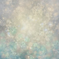 Christmas background. Winter sky, snowflakes and stars Royalty Free Stock Photo