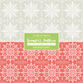 Christmas backgrounds with seamless patterns. Ideal for printing Royalty Free Stock Photo