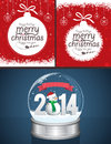 Christmas backgrounds and snow globe message designs easy editable Royalty Free Stock Photo