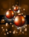 Christmas Backgrounds with Stunning Baubles Stock Images