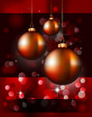 Christmas Backgrounds with Stunning Baubles Royalty Free Stock Photography