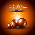 Christmas Backgrounds with Stunning Baubles Royalty Free Stock Image