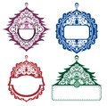 Christmas backgrounds tags collection of and decorative elements Stock Photo
