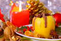 Christmas baked apple.Advent Royalty Free Stock Photography