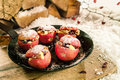 Christmas baked stuffed apples Royalty Free Stock Photo