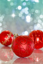 Christmas ball on abstract light background Royalty Free Stock Photo