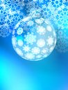 Christmas ball on abstract light eps background with snowflakes vector file Stock Image