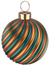 Christmas ball bauble New Years Eve decoration gold green Royalty Free Stock Photo