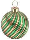 Christmas ball bauble New Years Eve  green gold decoration Royalty Free Stock Photo