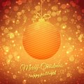 Christmas ball blurred festive vector background merry and happy holidays greeting card this is file of eps format Royalty Free Stock Photo