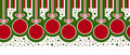 Christmas ball border Stock Image