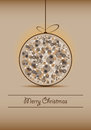 Christmas ball on a brown background with light Stock Photography