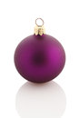 Christmas ball christmas ornament violet color over white Royalty Free Stock Photo