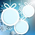 Christmas ball cut from paper on blue eps background Royalty Free Stock Image