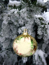 Christmas ball decorated tree with shine balls Stock Photo