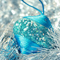 Christmas ball decoration Stock Photo