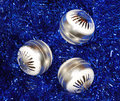 Christmas ball decorations Stock Photos