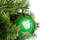 Christmas ball on fir-tree Stock Image