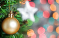 Christmas ball on fir tree Royalty Free Stock Photos