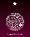 Christmas Ball Greeting Card Royalty Free Stock Photography