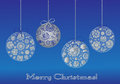 Christmas ball greting card Royalty Free Stock Photos
