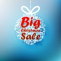 Christmas ball made from snowflakes with big sale eps Royalty Free Stock Image