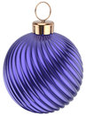 Christmas ball New Years Eve bauble decoration blue purple Royalty Free Stock Photo