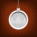Christmas ball pine tree decoration vintage style red background collection Stock Photo