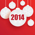 Christmas ball on red background Stock Images