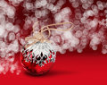 Christmas ball red bokeh background Royalty Free Stock Photos