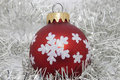 Christmas ball red with decoration Stock Image