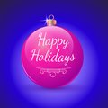 Christmas ball red decoration classic glossy happy holidays bauble traditional greeting card design element d Stock Image
