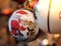 Christmas ball with santa Royalty Free Stock Photo