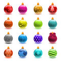 Christmas ball set Stock Images
