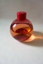 Christmas ball shaped plastic bottle of bubble bath Royalty Free Stock Photo