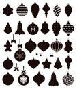 Christmas ball shapes, vector