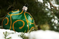 Christmas ball on the snow Royalty Free Stock Photo