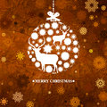 Christmas ball snowflakes and deer. EPS 8 Royalty Free Stock Images