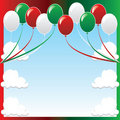 Christmas Balloon Background Stock Photos