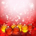 Christmas balls on abstract light background. Stock Image
