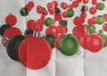 Christmas balls as vintage style on crumpled paper Royalty Free Stock Photo