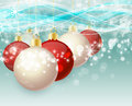 Christmas balls background with Royalty Free Stock Photography