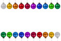Christmas balls baubles colorful border copyspace copy space iso Royalty Free Stock Photo