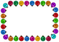 Christmas balls baubles colorful decoration frame copyspace copy Royalty Free Stock Photo