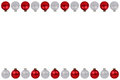 Christmas balls baubles red silver border copyspace copy space i Royalty Free Stock Photo