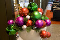 Christmas balls in bowl Royalty Free Stock Photography