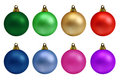 Christmas Balls Collection Royalty Free Stock Photo