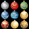 Christmas balls on dark Stock Photo